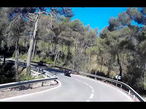Kawasaki z800 Back Honda CtX 700 (Gava-Begues-Avinyo Nou) - Helmet Recorcing with sj4000 in Full HD