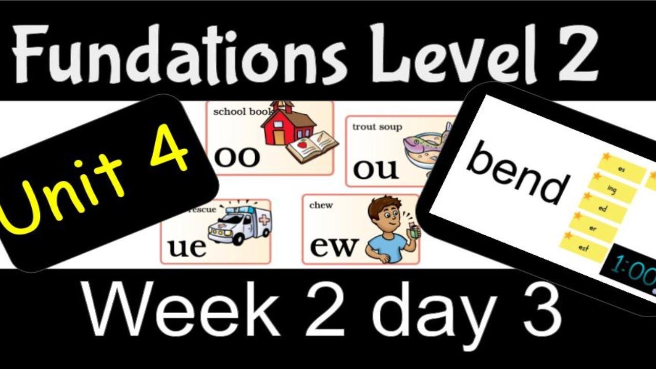 Fundations Level 2 Unit 4 Week 2 Day 3 - YouTube [ 720 x 1280 Pixel ]