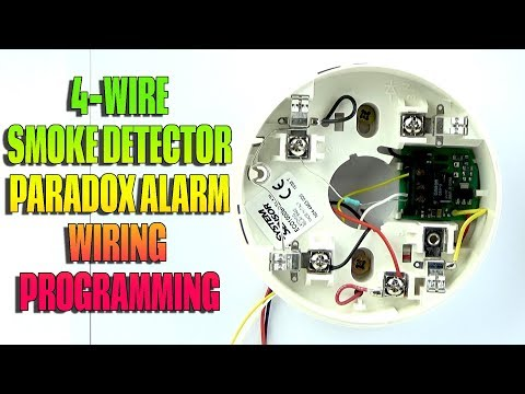 4 wire smoke detector wiring and programming paradox alarm youtube Wiring Smoke Detectors Together