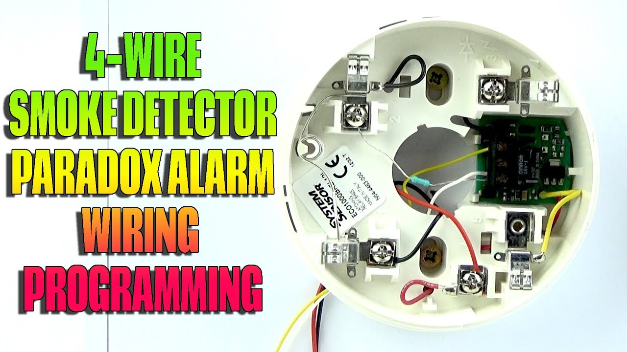 4 wire photoelectric smoke detector two lights one switch wiring diagram and programming paradox alarm youtube