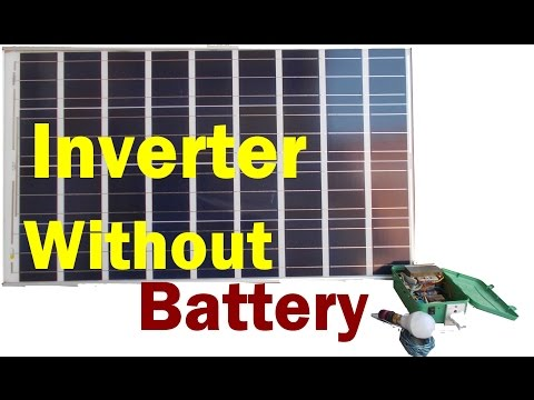 Inverter Run Without Battery | 220 volt bulb run on solar panel