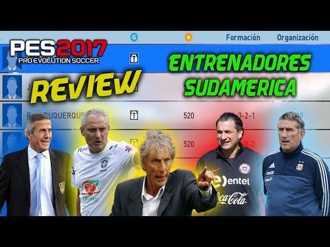 PES 2017 | MyClub | ENTRENADORES SUDAMERICA | REVIEW