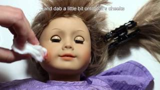 How To Refresh Cheeks Paint for American Girl Doll Tutorial ~HD~(, 2015-08-07T12:22:01.000Z)