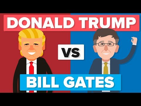 Donald Trump vs Bill Gates - People / Celebrity Comparison