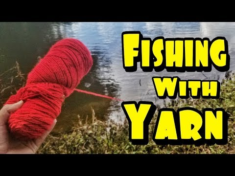 YARN Hand Line Catches BIG Fish (DIY Fishing Challenge)