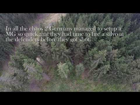 99th infantry division battle of the bulge 393rd reg drone footage