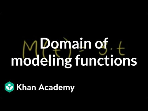 Domain of modeling functions | Functions and their graphs | Algebra II | Khan Academy