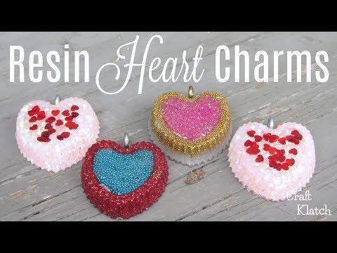 Heart Resin Charms DIY | Resin Crafts | Craft Klatch