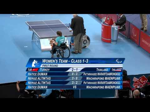 Table Tennis - TUR vs THA - Women's Team - Class 1-3 First Round - London 2012 Paralympic Games