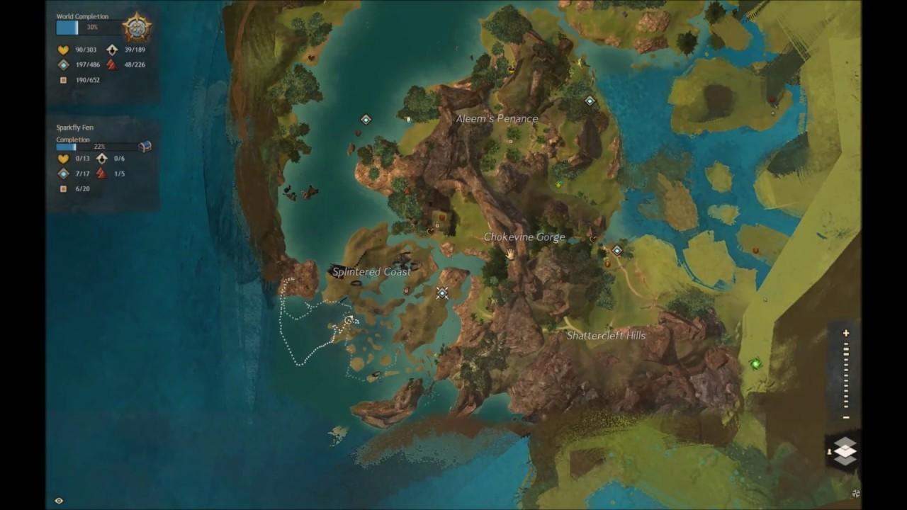 GW2 Out-of-bounds Tequatl Sunken Treasure -Lair Hidden Entrance