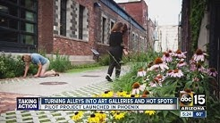 Turning alleys into art galleries in Phoenix
