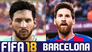 FIFA 18 vs Real Life Barcelona Faces (Real Faces Only)