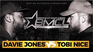 BMCL RAP BATTLE: DAVIE JONES VS TOBI NICE (BATTLEMANIA CHAMPIONSLEAGUE)