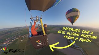 Insta 360 ONE X, Mavic Pro and GoPro epic balloon flying footage from our FlyDOO hot air balloon !