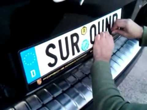Install Your Car Number Plate Surround & Install Your Car Number Plate Surround - YouTube
