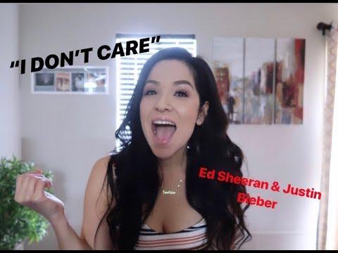 "REACTION TO ED SHEERAN/JUSTIN BIEBER ""I DON'T CARE"""
