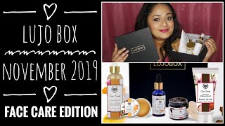 Lujo box November 2019 |5 full-sized products |FACE CARE edition |Unboxing