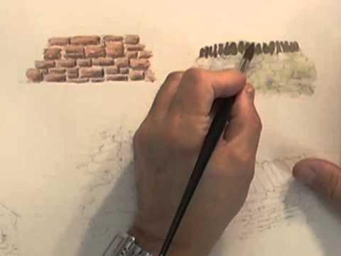 Watercolour Building Lesson - Stone Built Buildings