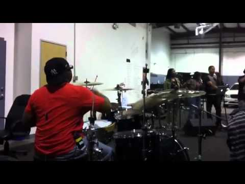 Calvin Rodgers with Fred Hammond rehearsal 1