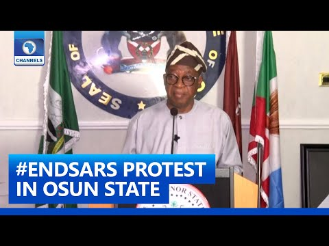 #EndSARS: Osun Governor Orders Investigations Into Death Of Two Persons