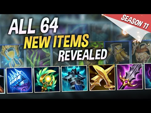 ALL 64 NEW ITEMS REVEALED! LEAGUE OF LEGENDS SEASON 11
