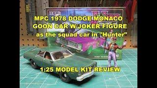 MPC 1978 DODGE MONACO w/JOKER FIGURE 1/25 MODEL KIT BUILD REVIEW MPC890