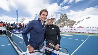 PR: Roger Federer vs. Lindsey Vonn auf Jungfraujoch