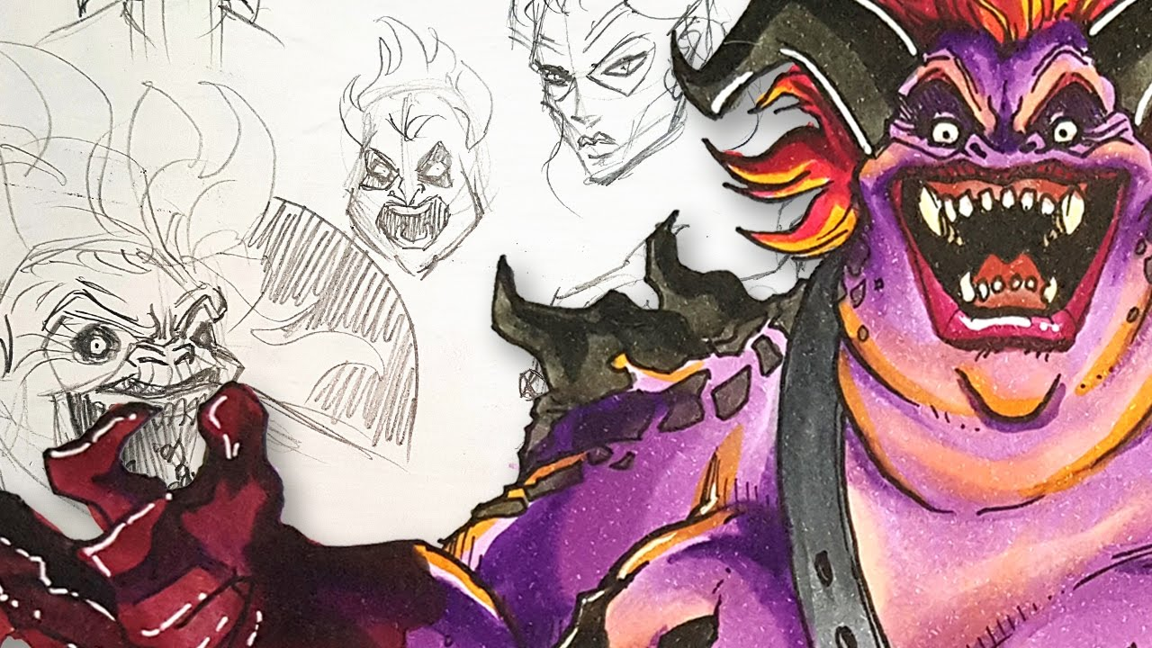 Character Design Session : Demon assassin character design session youtube