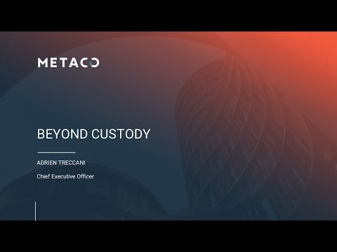 BEYOND CUSTODY – Adrien Treccani at Crypto Vault 360° Live Series  – November 2020