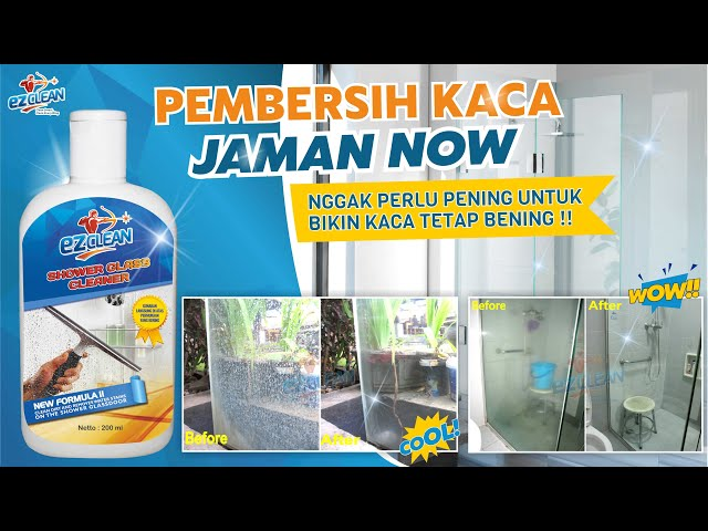 MUST HAVE !!! PEMBERSIH KERAK KACA SHOWER (SHOWER GLASS CLEANER) MASA KINI