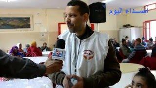 """تازة : جمعية """"بسمة أمل"""" تدخل البسمة على شفاه نزلاء مؤسسة الرعاية الإجتماعية بدار العجزة ."""