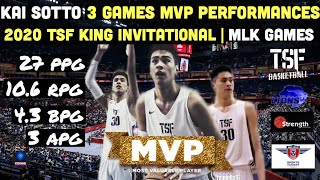 Highlights of Kai Sotto MVP Performances in the 3 Games of the 2020 TSF King Invitational