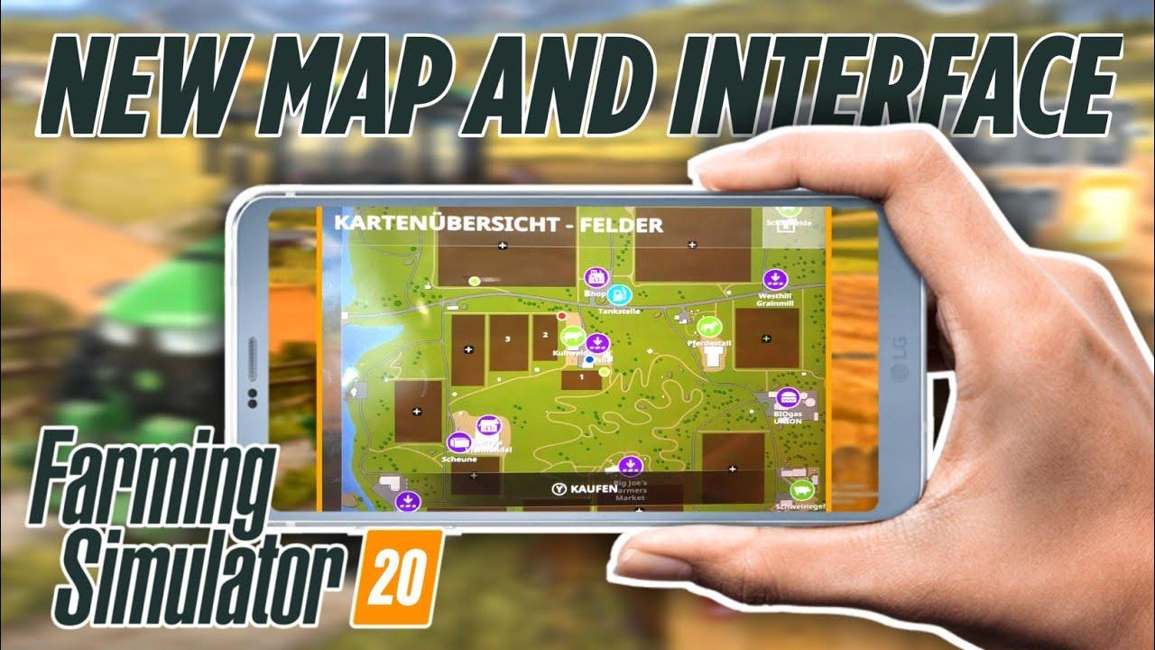 carte farming simulator 2020 Farming Simulator 20 MAP and INTERFACE | Android, iOS and Nintendo