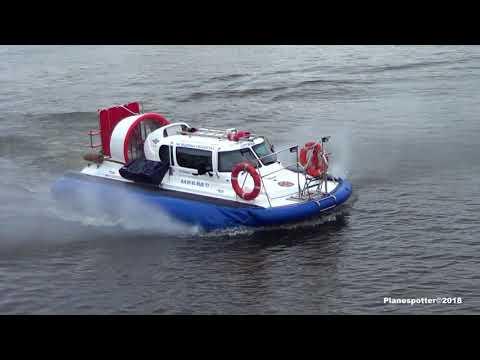 Hovercraft in Moskva river. Судно на Воздушной подушке. Запуск двигателя и маневры. Январь 2018 г