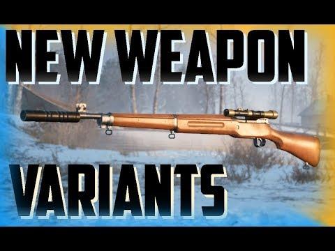 BATTLEFIELD 1: New Weapon Variants! Silenced Sniper, Scoped Assault Carbine