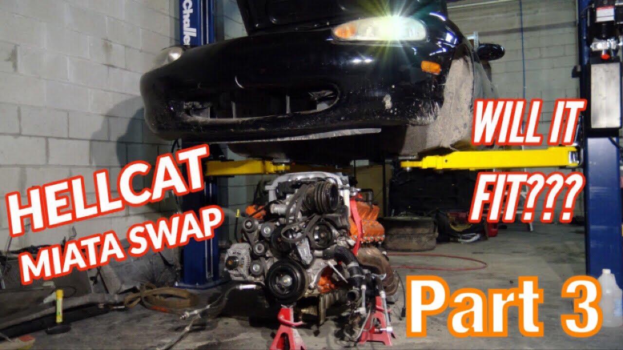 LS swaps are so last week: Shop drops Hellcat into Mazda MX