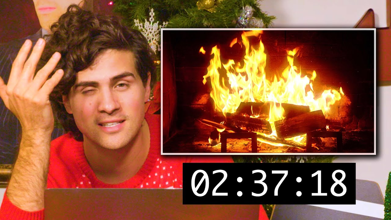 Reacting To Christmas Yule Logs Burning For 2 Hours 37 Minutes Hd