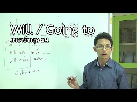 ภาษาอังกฤษ ม.1 Will / Going to ครูสิทธิพงษ์ วงศ์อาจ