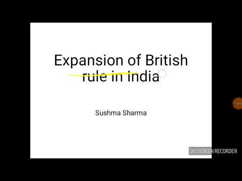 Modern History - expansion of British Empire in India