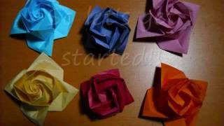 Making The Grid For Three Origami Roses (reuploaded)