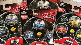 Disney Cars 3 Toy Hunt NEW CARS MINI RACERS WAVE 4 3-Pack Glow in the Dark Silver Metallic Series
