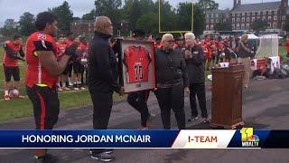 McDonogh School retires Jordan McNair's jersey