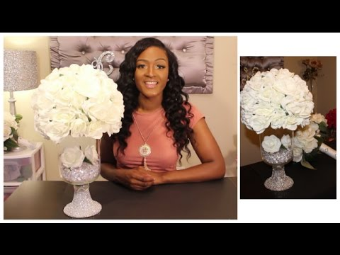 Glamorous Wedding Centerpiece | DIY Dollar Tree | Under $25!!!!  Bridal Floral Design |