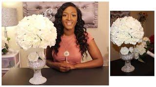 Glamorous Wedding Centerpiece | DIY Dollar Tree | Under $25!!!!  Bridal Floral Design |