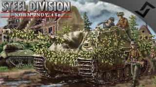 Jagdpanther Airfield 4v4 - Steel Division: Normandy 44 Multiplayer Gameplay