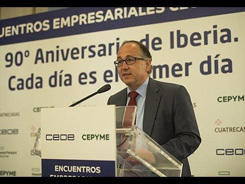 El presidente de Iberia, Luis Gallego en el Encuentro Empresarial CEOE CEPYME