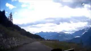Driving down Mont Fallère in the Aosta Valley