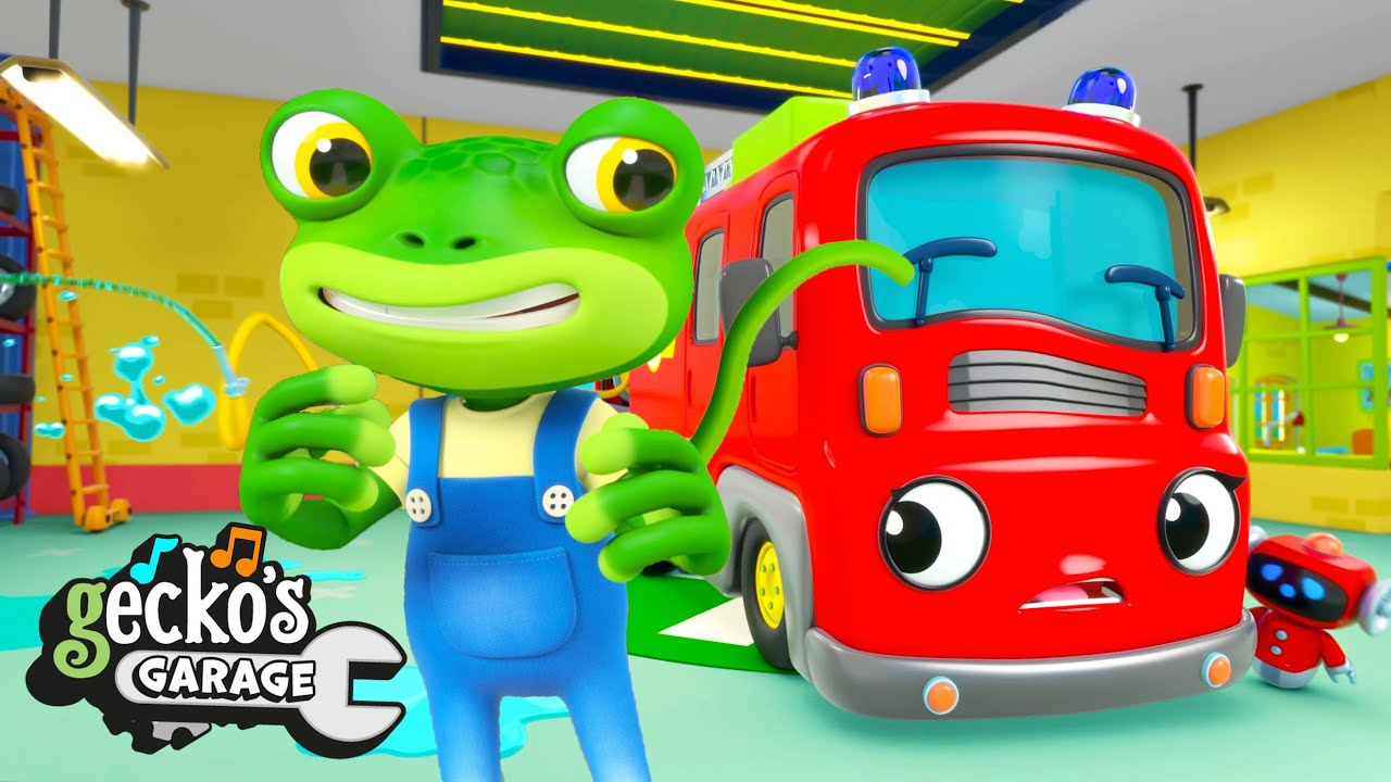 Fiona the Fire Truck is in Trouble! | Gecko's Garage | Trucks For Children | Cartoons For Kids |
