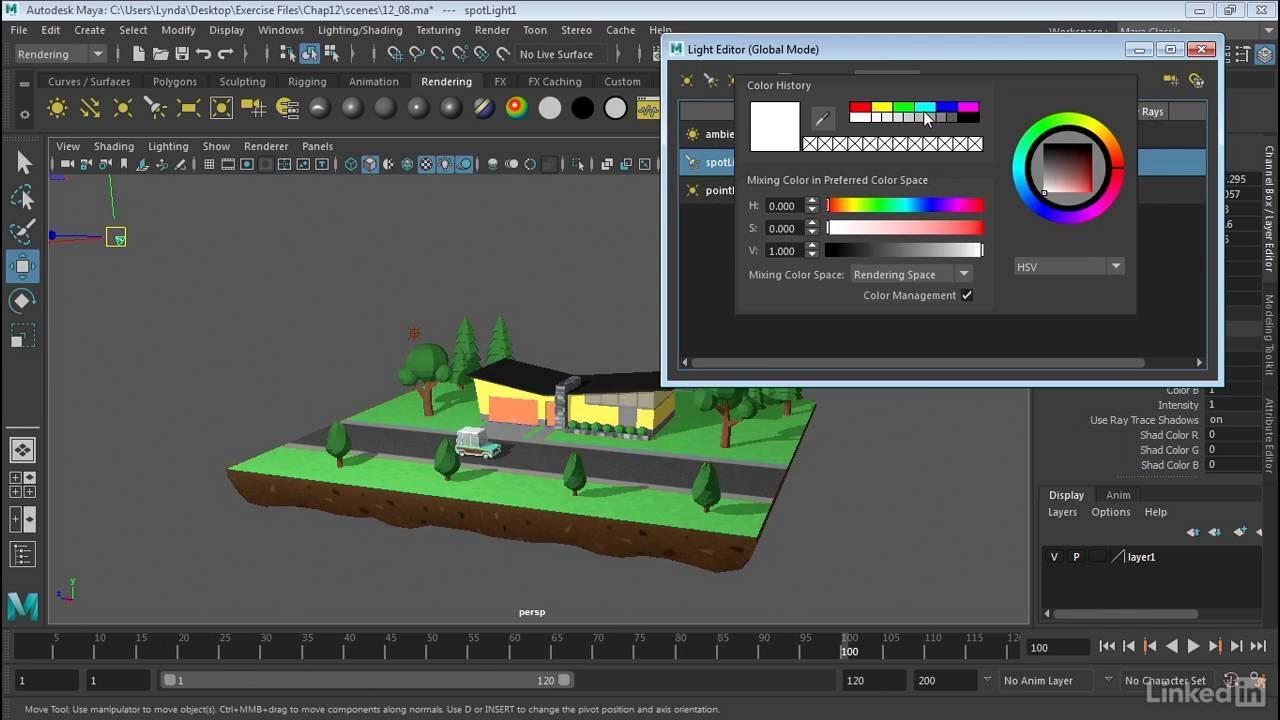Maya 2017 Essential Training | Use The Light Editor   YouTube
