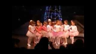 Funny little girls dance - ballet performance